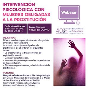 Intervención psicológica con mujeres obligadas a la prostitución.