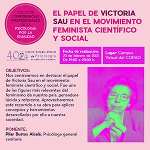 El papel de victoria Sau en el movimiento feminista científico y social