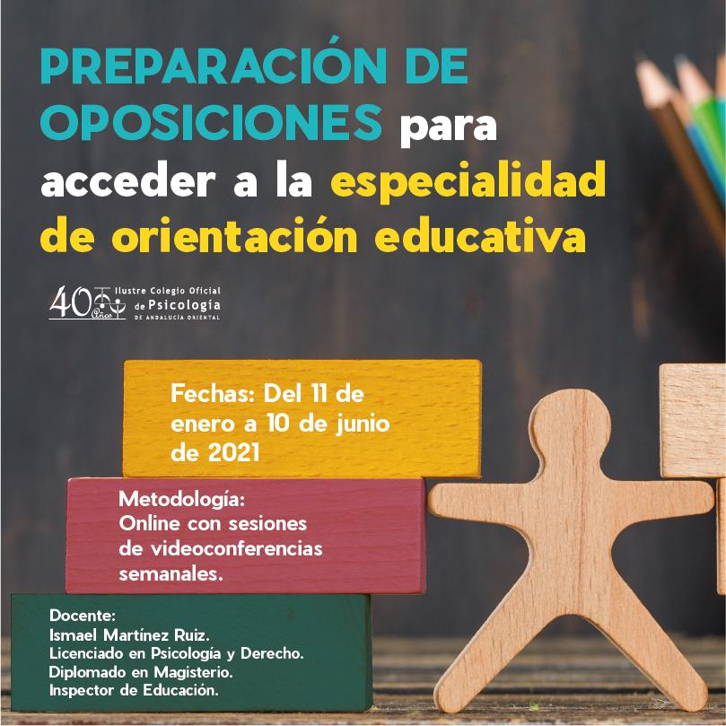 Preparación de oposiciones para acceder a la especialidad de orientación educativa