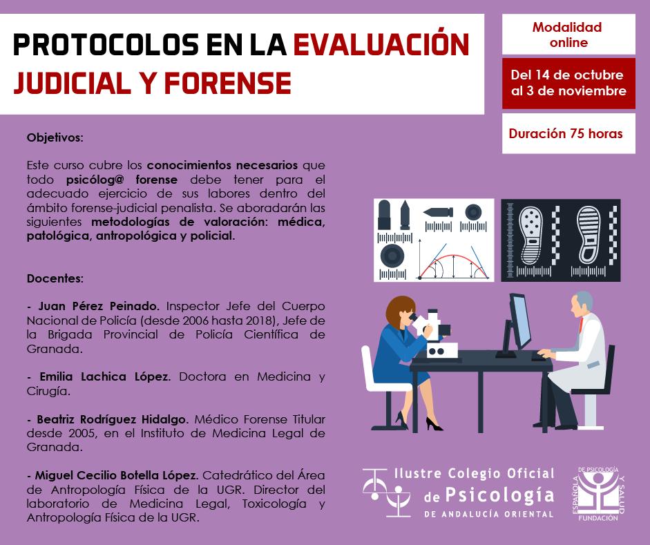 Módulo 5. Asignatura 15.- Protocolos en la evaluación judicial y forense