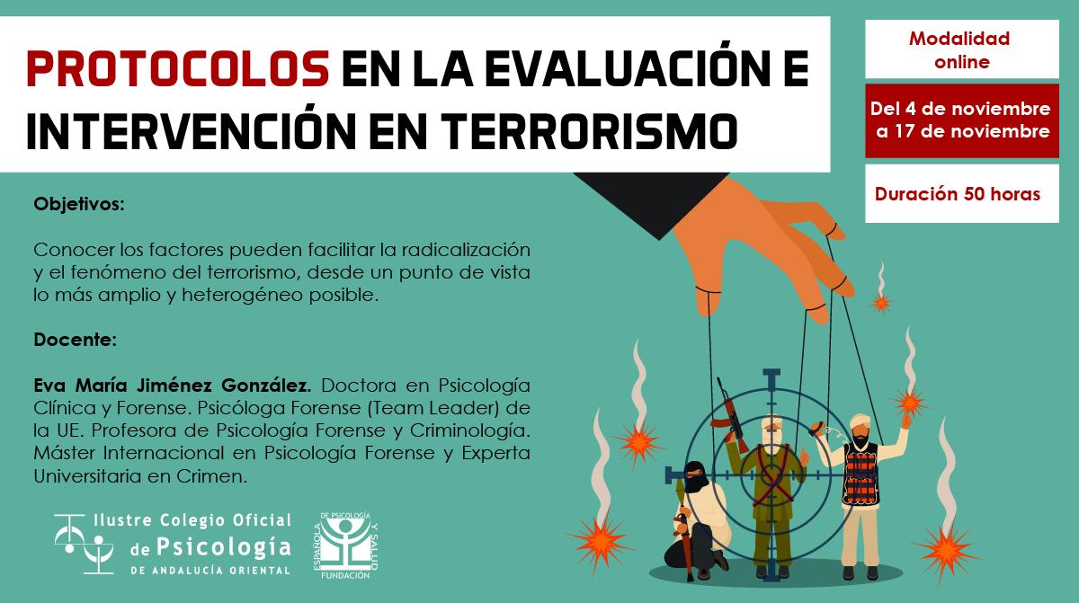 Protocolos en la evaluación e intervención en terrorismo